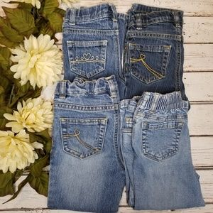 Other - Toddler Girls Bootcut Jeans Lot of 4 Pairs